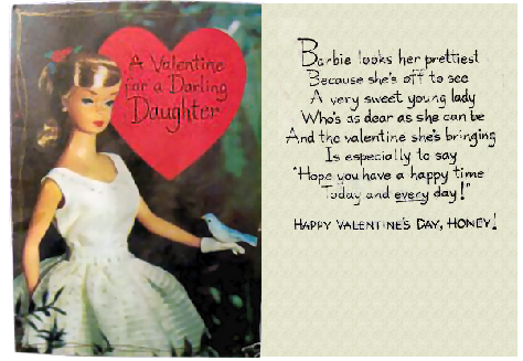 you can print this valentine and give it to your daughter just click it and print it